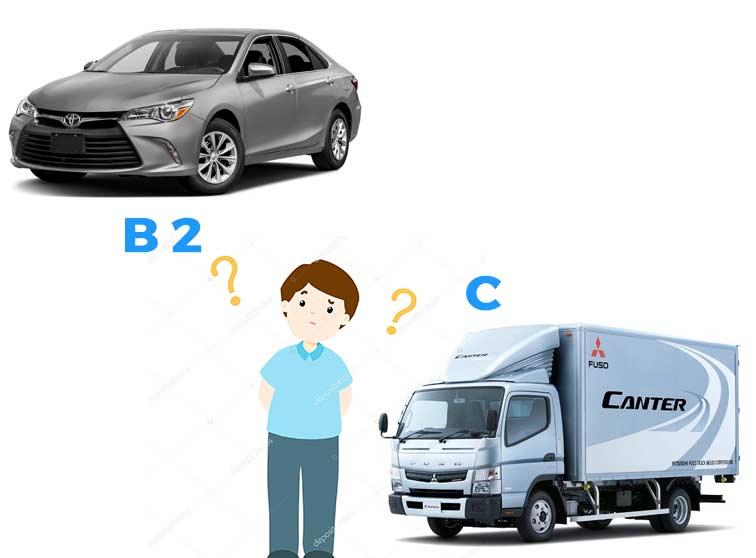 Bằng C lái được xe bao nhiêu chỗ?