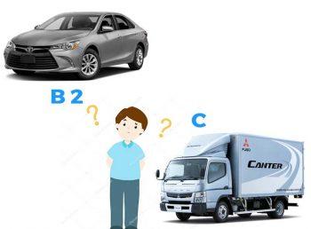 Có nên học b2 hay c khi lái xe 3.5 tấn hoặc xe taxi ?