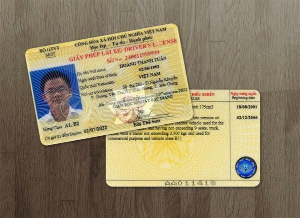 Nhận giấy phép lái xe cấp lại
