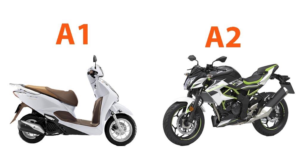 Bằng lái xe a1 và a2 khác nhau như thế nào ?